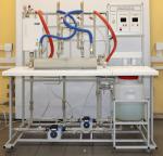 Учебный лабораторный стенд «Теплообменник труба в трубе»