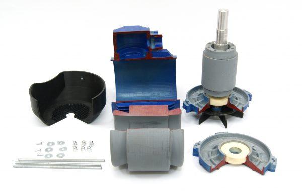 Электродвигатель в разрезе - модель